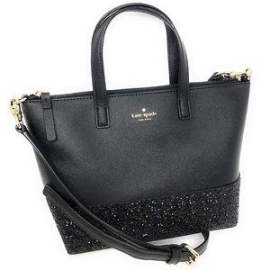 Black Greta Court Kate ♠️ Spade purse